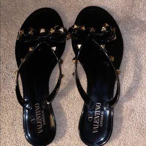 Valentino Rockstud Jelly Sandals